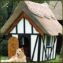 Thatched dog kennels and more.